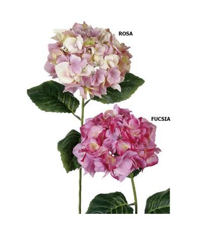 FLOR HORTENSIA FUCSIA