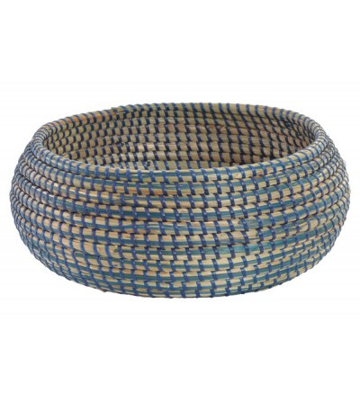 CESTA SEAGRASS NATURAL AZUL