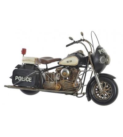MOTO POLICÍA METAL