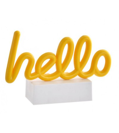 DECORACIÓN LUMINOSA LED HELLO
