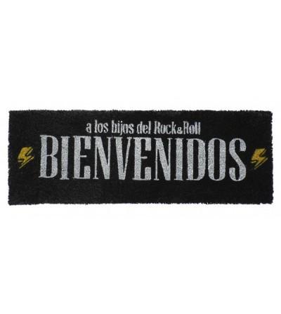 FELPUDO HIJOS DEL ROCK AND ROLL BIENVENIDOS NEGRO