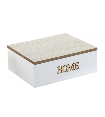 CAJA HOME MADERA BLANCO Y NATURAL