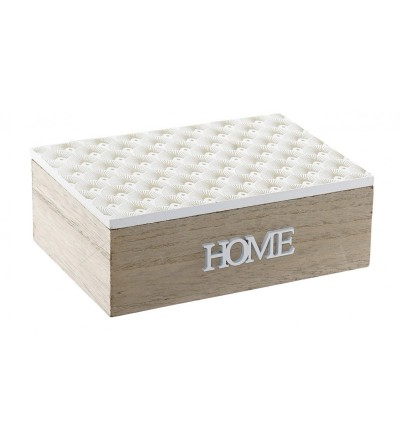 CAJA HOME MADERA NATURAL Y BLANCO