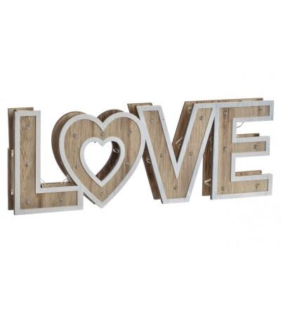 DECORACIÓN LOVE LED MADERA